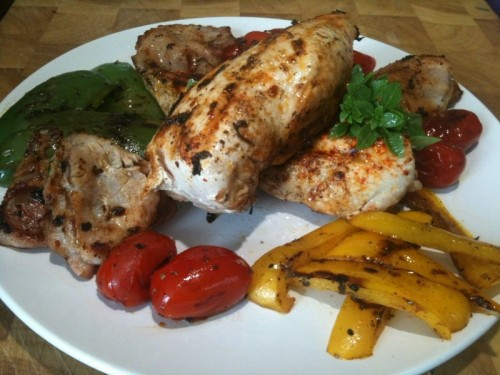 Griddled Honey & Orange Chicken with Vegetables