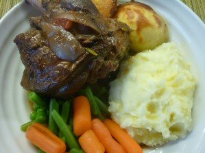 Lamb Shanks with Balsamic and Red Wine Sauce
